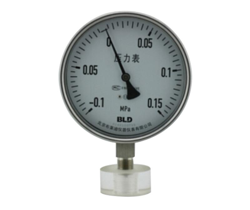 YQH型安全型全不锈钢内卡式压力表
