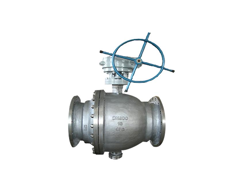 Q347F型蜗轮法兰固定球软密封锻钢球阀